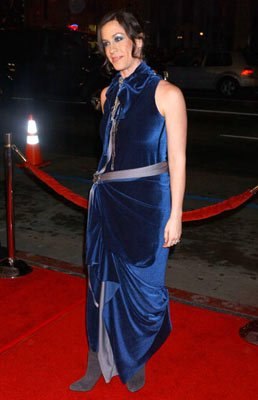 Alanis Morissette at the Hollywood premiere of New Line Cinema's Blade: Trinity