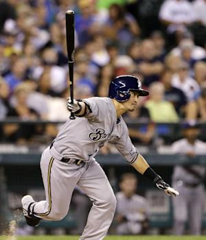 Brewers use 2 big innings, rout Mariners 10-0