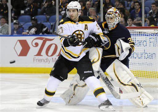Khudobin stops 26 in Bruins' 2-0 win over Sabres