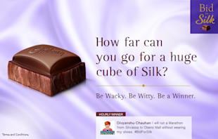 Cadbury Silk Relaunches By Spreading Indulgence On Social Media image bidforsilk FB app