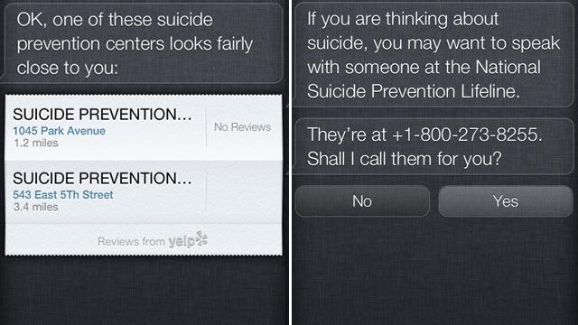 Apple's Siri Can Be First Call for Users Thinking of Suicide
