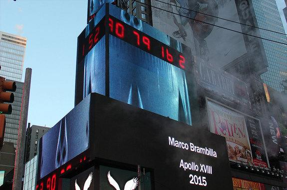Artist's 'Apollo 18' Moon Mission Launching Onto Times Square Billboards