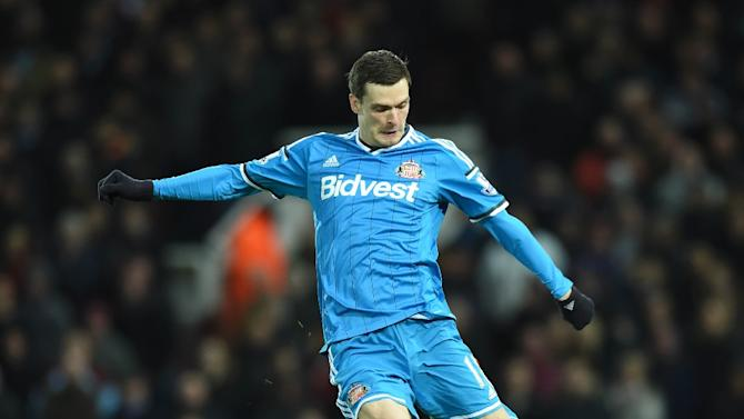Sunderland's midfielder Adam Johnson, pictured on March 21, 2015, is due to stand trial in Bradford, northern England on two counts of sexual activity with a child, which he denies