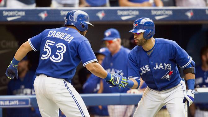 Cabrera leads Blue Jays to 9-6 win over Rangers