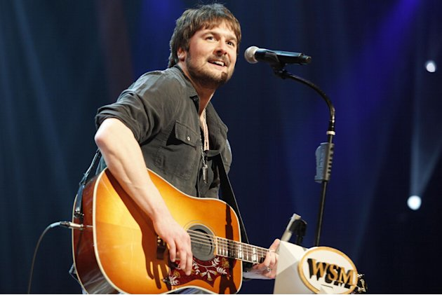 FILE - In this March 18, 2011 file photo, country singer Eric Church performs at the Grand Ole Opry in Nashville, Tenn. Church is the top nominee with seven nominations at the upcoming 48th annual Aca