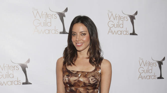 Aubrey Plaza attends the 2013 Writers Guild Awards at the JW Marriott on Sunday, Feb. 17., 2013 in Los Angeles. (Photo by Todd Williamson/Invision/AP)