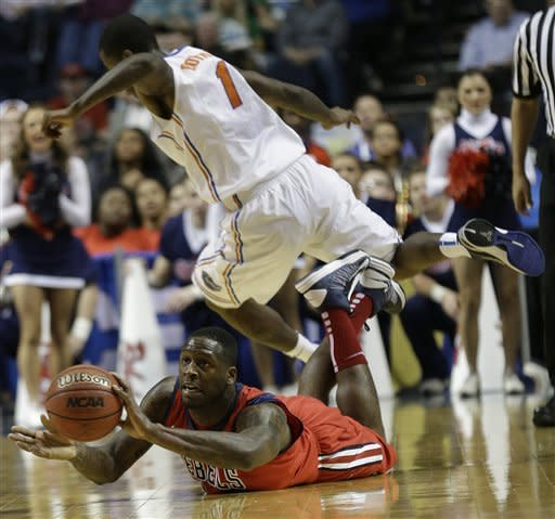 Ole Miss upsets No. 13 Florida 66-63 for SEC title