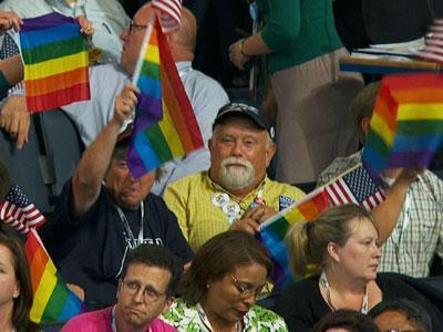 Record presence for gays at Dem convention