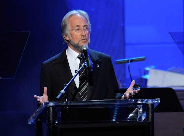 Neil Portnow, President of the National Academy of Recording Arts and Sciences, speaks at the Clive Davis Pre-GRAMMY Gala on Saturday, Feb. 9, 2013 in Beverly Hills, Calif. (Photo by Chris Pizzello/Invision/AP)