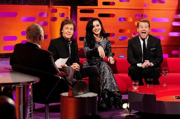 Graham Norton interviews Sir Paul McCartney, Katy Perry and James Corden for his TV show