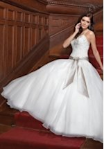 Trumpet Sweetheart Floor Length Attached Silk Dupioni Brooch Bridesmaid Dress Style