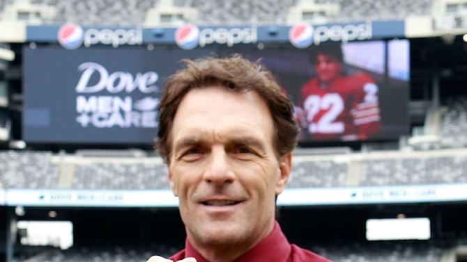 Doug Flutie is seen at the DOVE Men+Care Play-by-Play on Fatherhood, on Friday, Oct. 26, 2012 at MetLife Stadium in East Rutherford, NJ. (Photo by Mark Von Holden/Invision for Dove Men/AP Images)
