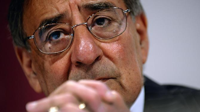 U.S. Defense Secretary Leon Panetta speaks during the opening of the International Institute for Strategic Studies (IISS) 11th Asia Security Summit in Singapore  Saturday, June 2, 2012. (AP Photo9/Jim Watson, Pool)