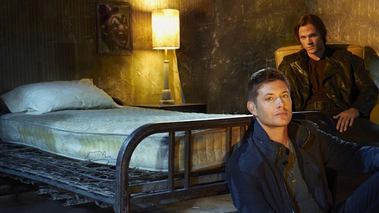 "Jensen Ackles as Dean Winchester and Jared Padalecki as Sam Winchester in ""Supernatural."""