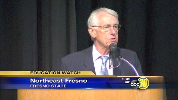 President Welty delivers final speech at Fresno State