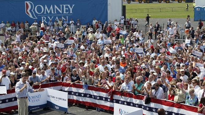 Republican vice presidential candidate, Rep. Paul Ryan, R-Wis. speaks during a campaign event, Friday, Aug. 31, 2012, in Richmond, Va.  (AP Photo/Mary Altaffer)