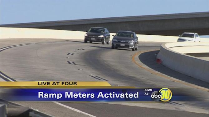Ramp meters activated in Fresno