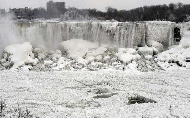 The American Falls shown from Niagara Falls