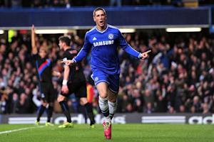 Chelsea's striker Fernando Torres celebrates after …
