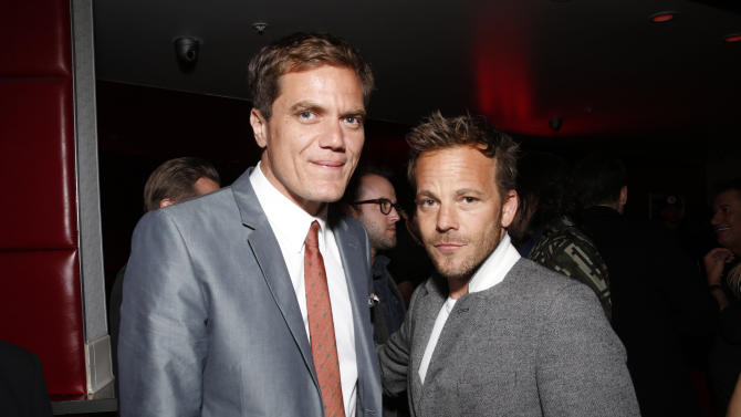 IMAGE DISTRIBUTED FOR MILLENNIUM - Michael Shannon, left, and Stephen Dorff attend the DeLeon Tequila Premiere of The Iceman After Party on Monday, April 22, 2013 in Los Angeles. (Photo by Todd Williamson/Invision for Millennium/AP Images)