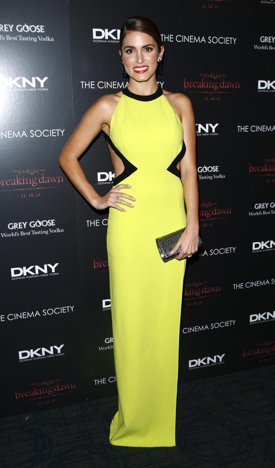 "Actress Nikki Reed attends the Cinema Society premiere of ""The Twilight Saga: Breaking Dawn-Part 1"" on Wednesday, Nov. 16, 2011 in New York. (AP Photo/Peter Kramer)"
