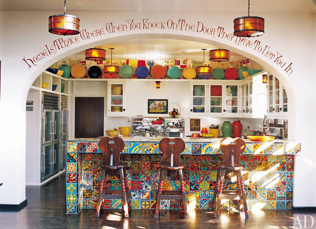 Diane Keaton's kitchen in the Los Angeles enclave of Bel Air. Tim Street-Porter/AD