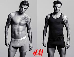 David Beckham Shows Off Sexy Six-Pack Abs in H&M Underwear Ad