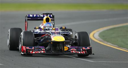 Red Bull Formula One driver Sebastian Vettel of Germany drives during the Australian F1 Grand Prix at the Albert Park circuit in Melbourne