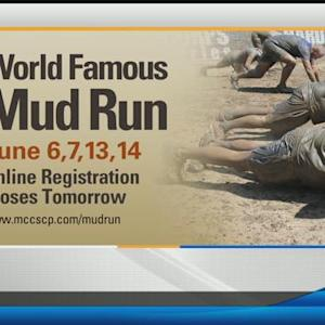 Getting dirty during the World Famous Mud Run
