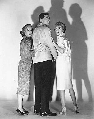 Vera Miles , John Gavin and Janet Leigh in Paramount's Psycho