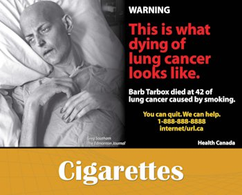 Canadian Cigarette Label
