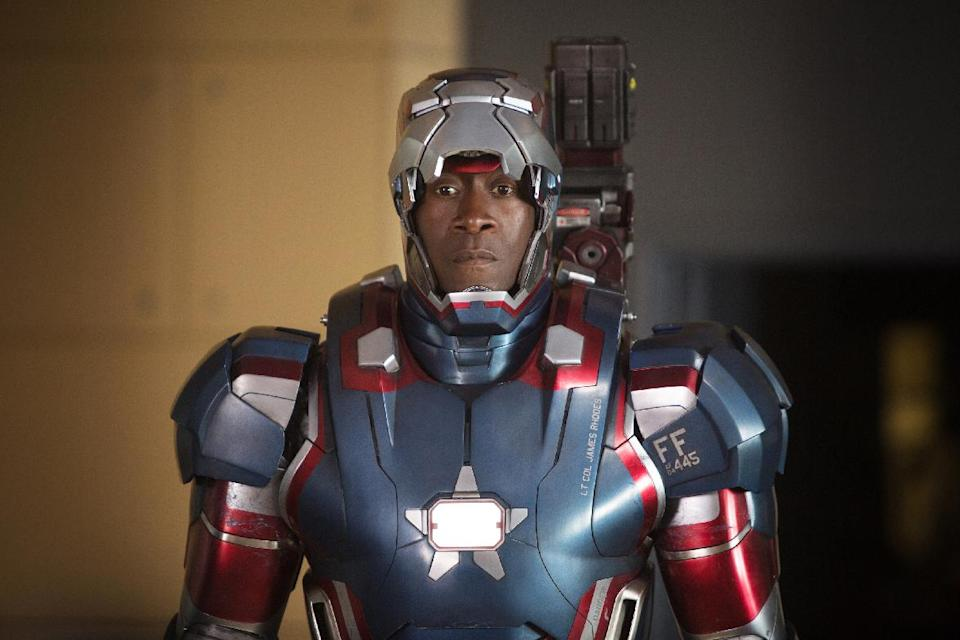 "This film publicity image released by Disney-Marvel Studios shows Don Cheadle as James Rhodes in a scene from ""Iron Man 3.""  (AP Photo/Disney, Marvel Studios, Zade Rosenthal)"