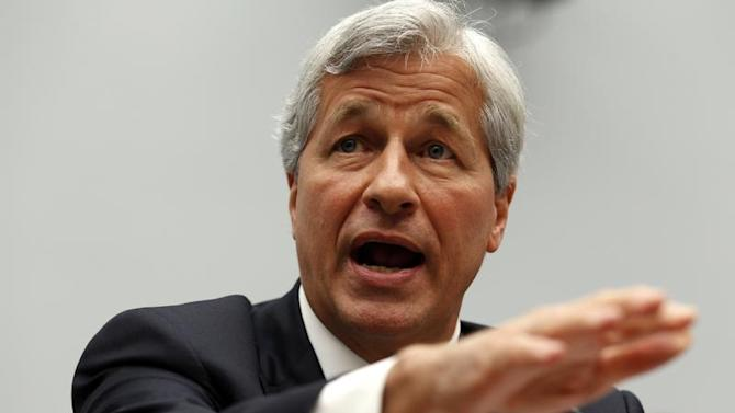 Jamie Dimon, chairman and CEO of JPMorgan Chase & Co., testifies before a House Financial Services Committee hearing on Capitol Hill in Washington