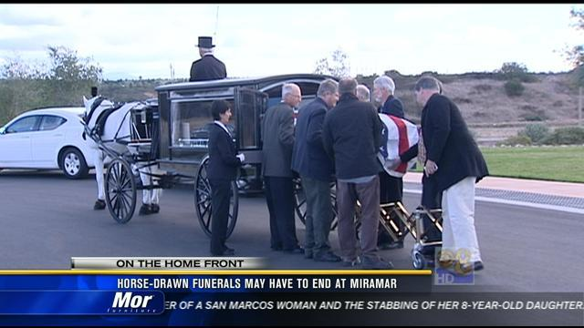 Horse-drawn funerals may have to end at Miramar