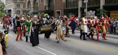costumed gamers parade