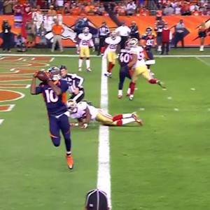 Denver Broncos wide receiver Emmanuel Sanders 3-yard TD reception