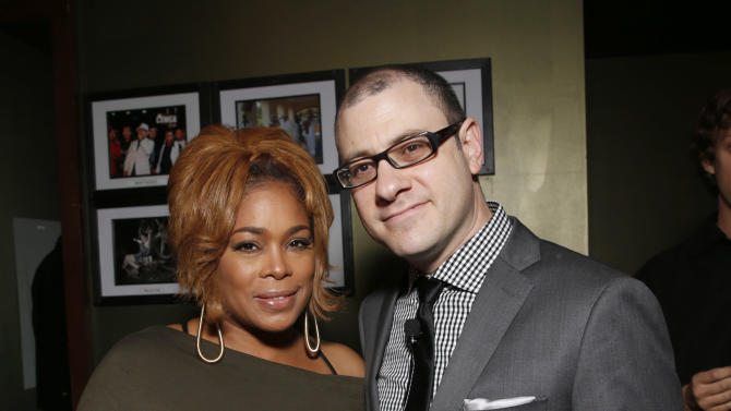 Tionne 'T-Boz' Watkins of TLC and editorial director of Billboard and moderator Bill Werde attend the 4th Annual Social Media Rock Stars Summit, on Friday, February, 8, 2013 in Los Angeles(Photo by Todd Williamson/Invision for Billboard Magazine/AP Images)