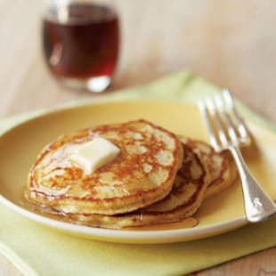 Hazelnut-Cornmeal Pancakes