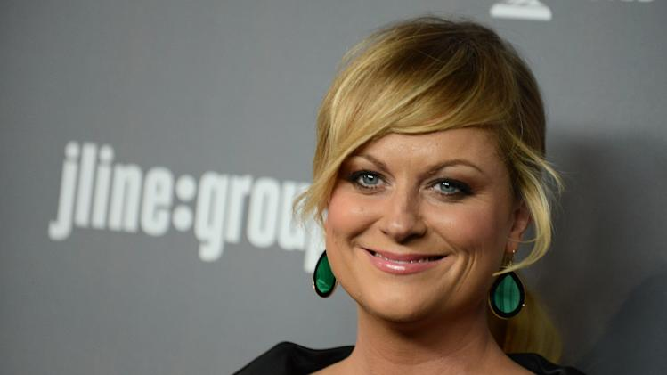 Amy Poehler arrives at the 15th Annual Costume Designers Guild Awards at The Beverly Hilton Hotel on Tuesday, Feb. 19, 2013 in Beverly Hills. (Photo by Jordan Strauss/Invision/AP)