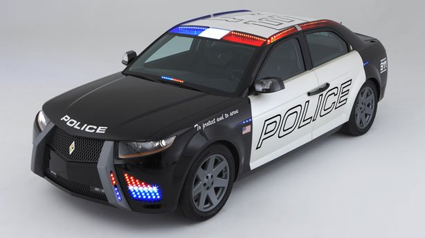 the cop car of the future carbon motors rear wheel drive e7 police vehicle will be powered by a forced induction diesel engine that will deliver 250 - Lamborghini Egoista Police