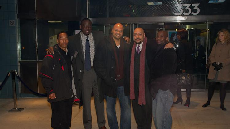 Left to right: Korey Wise, Yusef Salaam, Kevin Richardson, Raymond Santana and Antron McCray taken Nov 15, 2012