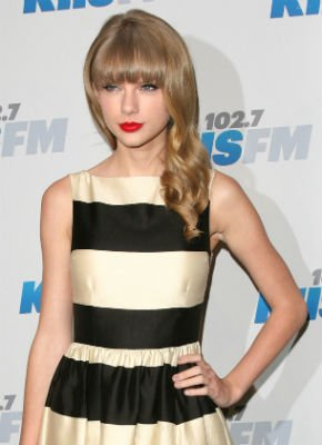 Taylor Swift Runs Into Her Ex Joe Jonas In Stunning Kate Spade Dress At KIIS FM Jingle Ball