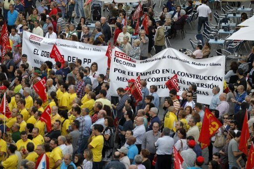 &lt;p&gt;Spanish workers of Asturias protest against the Spanish government&#39;s austerity policies during a demonstration called by the Spanish unions on October 8. Spain&#39;s labour unions called a general strike for November 14, the second such blanket action this year against the government&#39;s biting austerity measures.&lt;/p&gt;