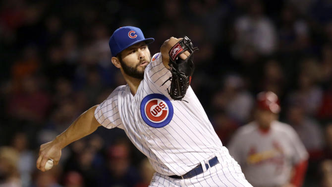 Arrieta outpitches Lackey as Cubs beat Cards, 3-1