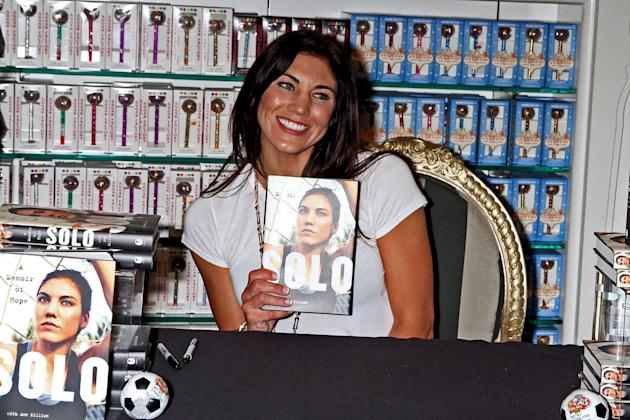 Olympic soccer player Hope Solo promote her book 'Solo: A Memoir of Hope' at the Sugar Factory at the Paris Las Vegas Las Vegas, Nevada -28.09.12
