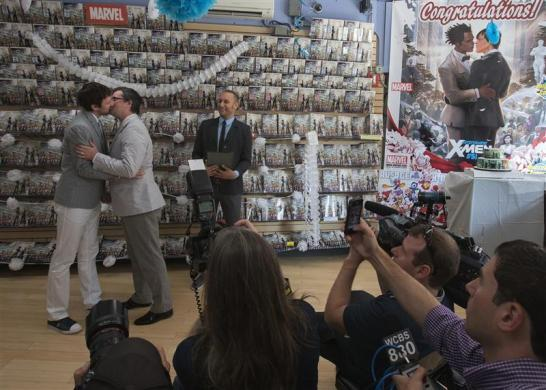 Comic book wedding