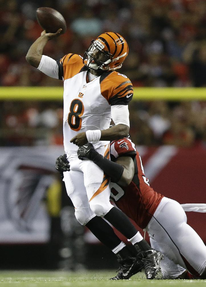 Bengals show depth a QB and RB in win over Falcons