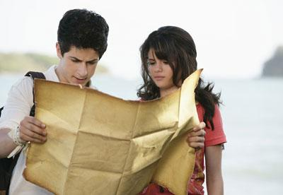 David Henrie and Selena Gomez in the Disney Channel Original Movie Wizards of Waverly Place