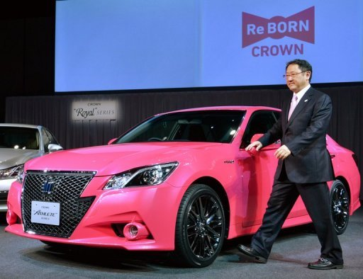 &lt;p&gt;Toyota Motor president Akio Toyoda introduces the company&#39;s flagship sedan &#39;Crown,&#39; in Tokyo, on December 25, 2012. Toyota says it expects to sell 9.7 million vehicles globally this year, up 22 percent from 2011 as Japan&#39;s biggest automaker accelerates a recovery after last year&#39;s natural disasters.&lt;/p&gt;