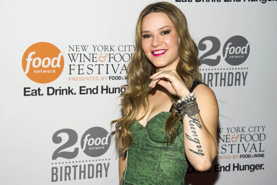 Nadia Giosia attends the Food Network's 20th birthday party on Thursday, Oct. 17, 2013, in New York. (Photo by Charles Sykes/Invision/AP)